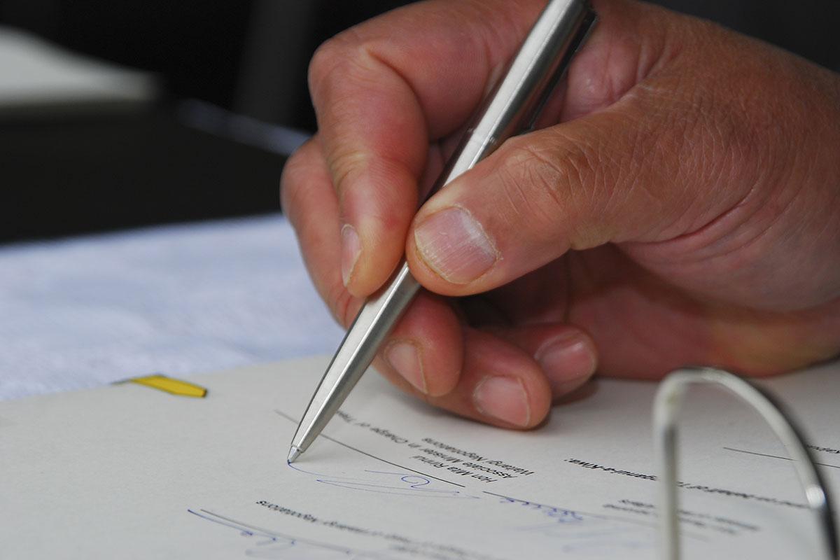 treaty office signature